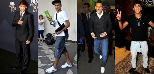 foto cinco looks do neymar