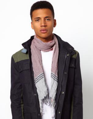 cachecol masculino com franja