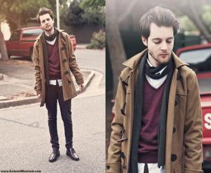 cachecol masculino formas de usar suéter