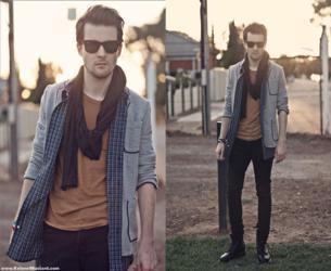 cachecol masculino modos de usar blazer