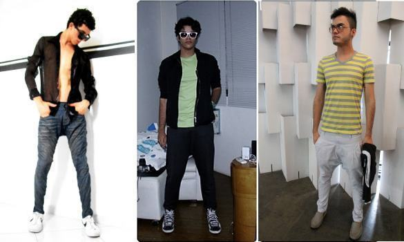 foto saruel jeans, preta e branca
