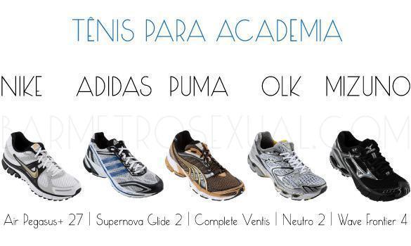 modelo de tênis para academia