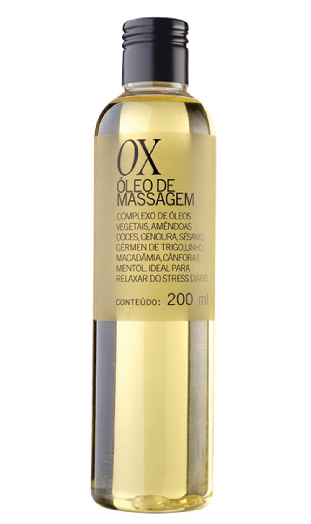 óleo de massagem corporal