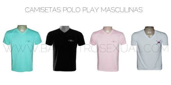 camiseta masculina polo play
