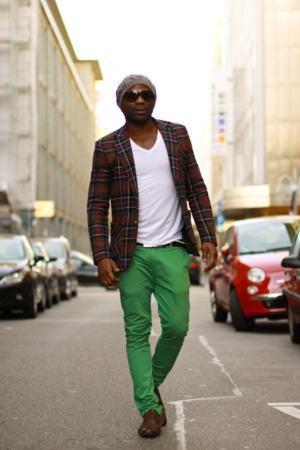 calça colorida verde homem