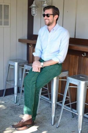 calça colorida verde masculina