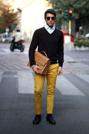 calça masculina colorida amarela