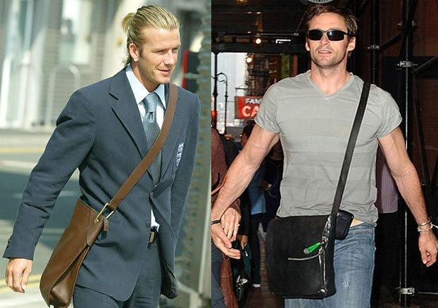 foto bolsa masculina tipo carteiro