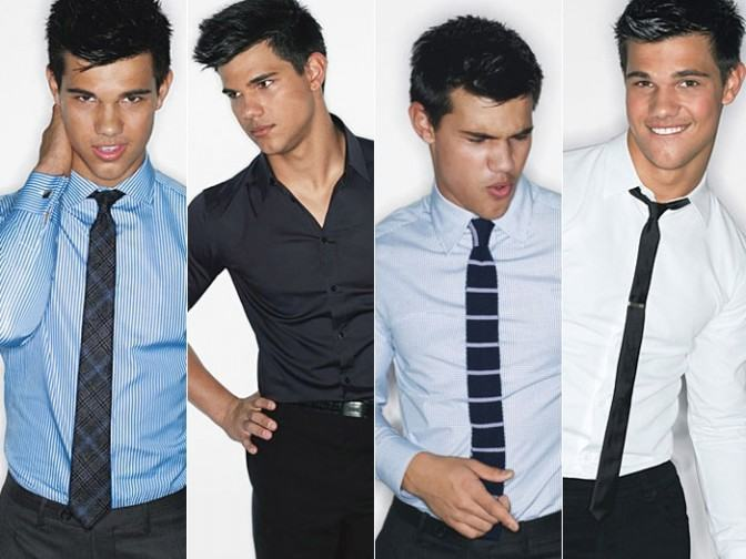 foto como usar gravata fina