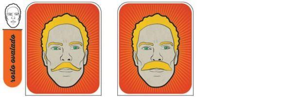 bigode para rosto oval