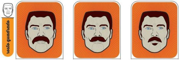 bigode para rosto quadrado
