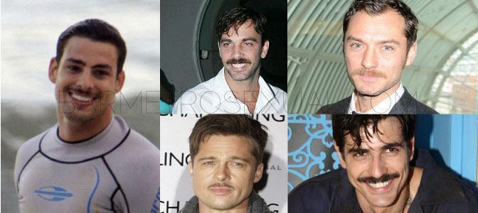 foto famosos de bigode