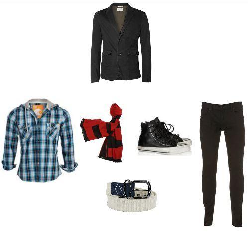 foto de blazer com jeans no estilo alternativo