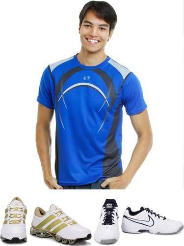 foto tênis com camisa