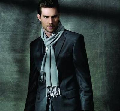 foto cachecol de tricô masculino
