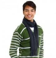 foto cachecol em tricô