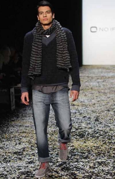 foto cachecol masculino de tricô
