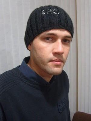 foto gorro em tricô masculino