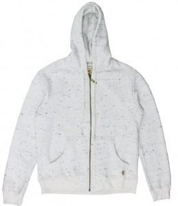 foto jaqueta branc com detalhe em poá