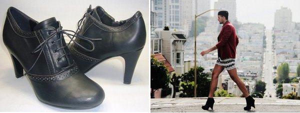 foto sapato de salto alto masculino