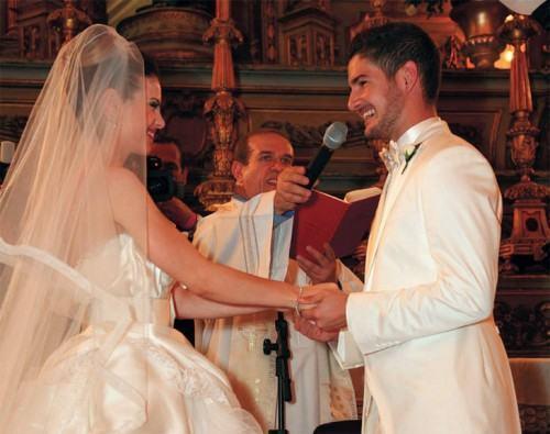 foto terno branco no casamento