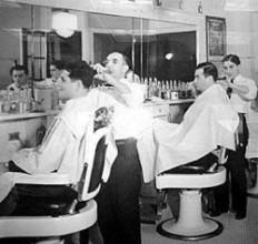 foto barberaria de época
