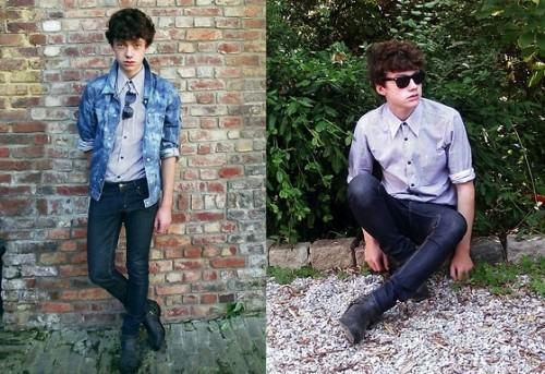 foto camisa jeans camuflada