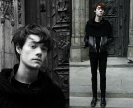 foto calça preta slim
