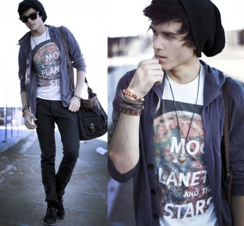 foto como usar t-shirt masculina