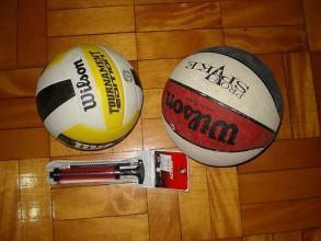 foto bola de vôlei e basquete
