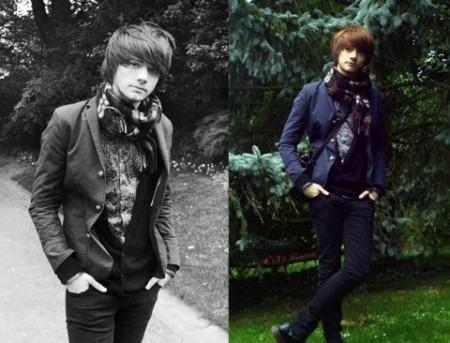foto blazer masculino azul