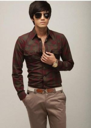 foto camisa slim masculina
