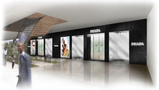 projeto arquitetônico da nova loja prada