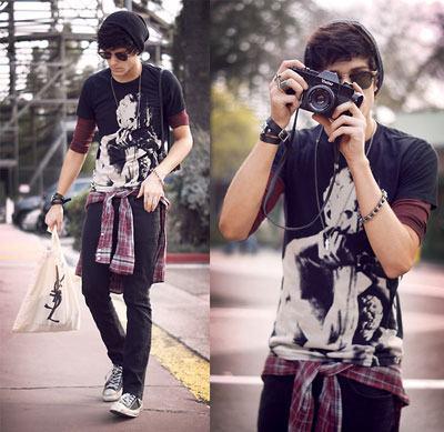 foto calça e camiseta