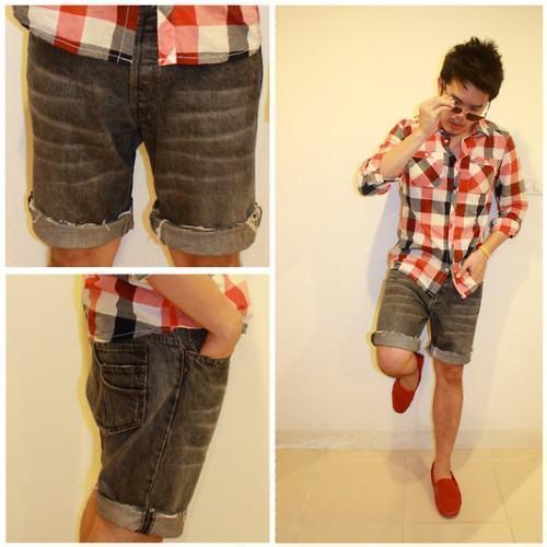 foto short jeans masculino