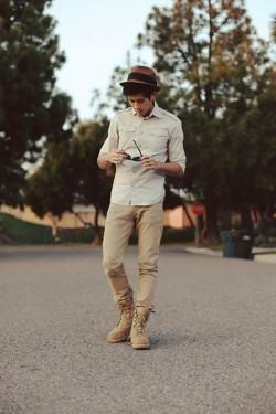 calça cáqui masculina