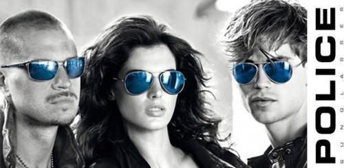 foto óculos lente azul