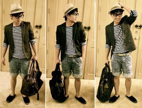 foto camisa estampada estilo navy