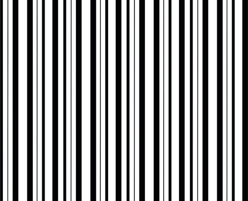 foto estampa listrada preto em branco