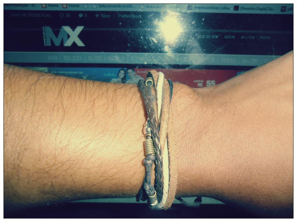 bracelete de couro 1