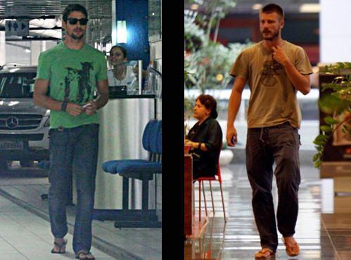 foto famosos usando calça com chinelo