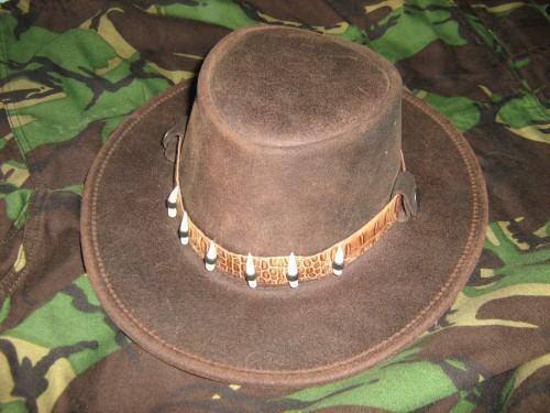 foto chapeu australiano de couro