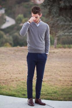 foto look com suéter masculino