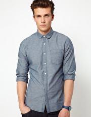 foto camisa tecido chambray