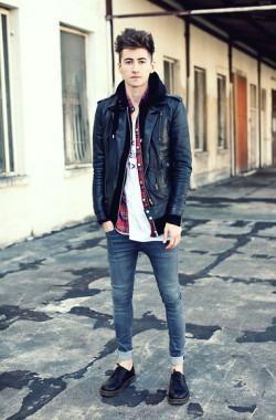 foto jaqueta de couro