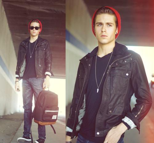 foto jaqueta de couro masculina