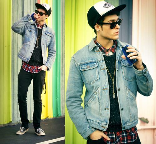foto jaqueta jeans masculina