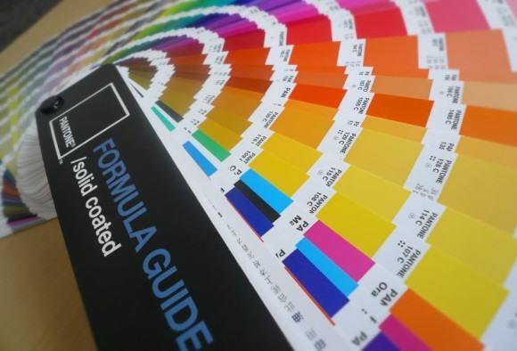 foto cartela de cores da pantone