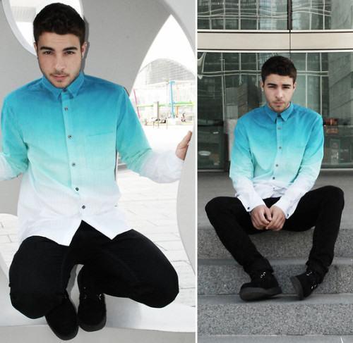 foto camisa ombré