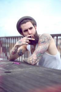 estilo de barba rosto quadrado